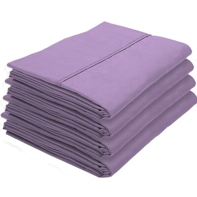 Rettig Pillowcase Color: Lavender, Size: Standard