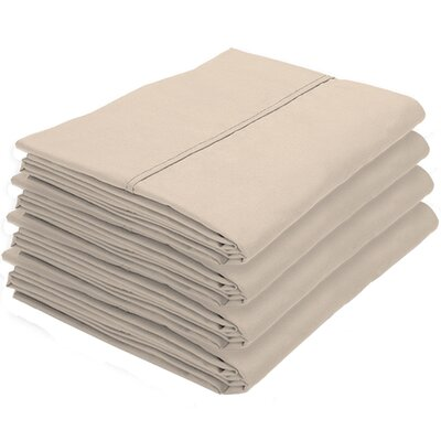 Rettig Pillowcase Color: Sand, Size: King