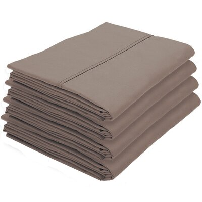Rettig Pillowcase Color: Taupe, Size: Standard