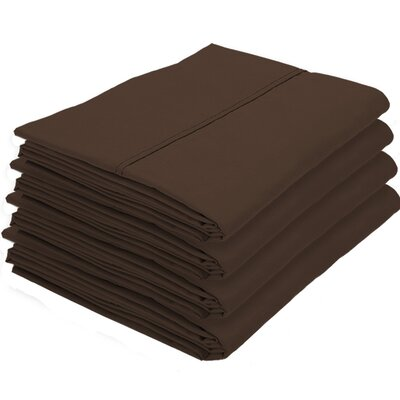 Rettig Pillowcase Color: Cocoa, Size: King
