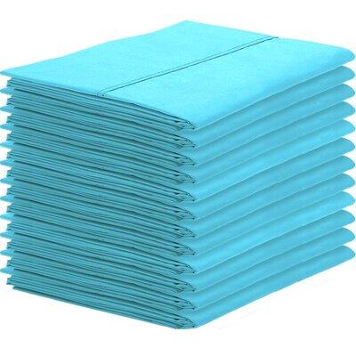 Gaiter Pillowcase Color: Aqua, Size: King