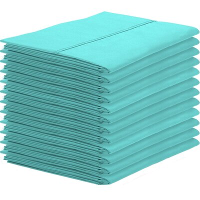 Gaiter Pillowcase Color: Turquoise, Size: King