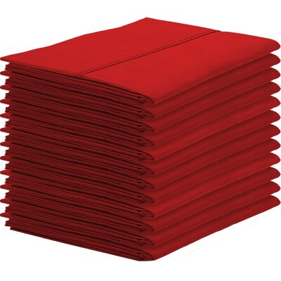 Gaiter Pillowcase Color: Red, Size: King