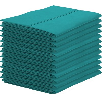 Gaiter Pillowcase Color: Emerald, Size: King