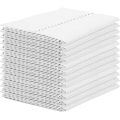 Gaiter Pillowcase Color: White, Size: Standard