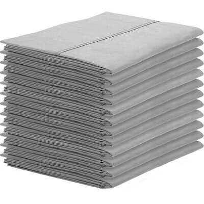 Gaiter Pillowcase Color: Light Gray, Size: King