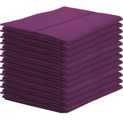 Gaiter Pillowcase Color: Plum, Size: King
