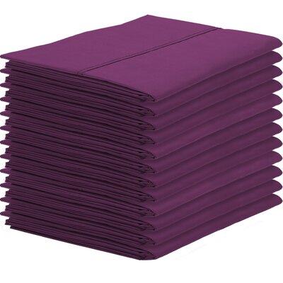 Gaiter Pillowcase Color: Plum, Size: Standard