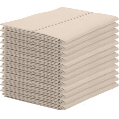 Gaiter Pillowcase Color: Sand, Size: King