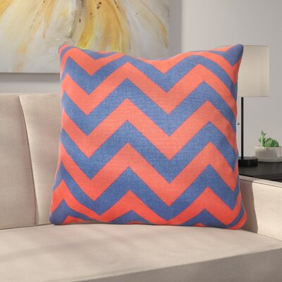 Burd Zigzag Floor Pillow Color: Lipstick Blue