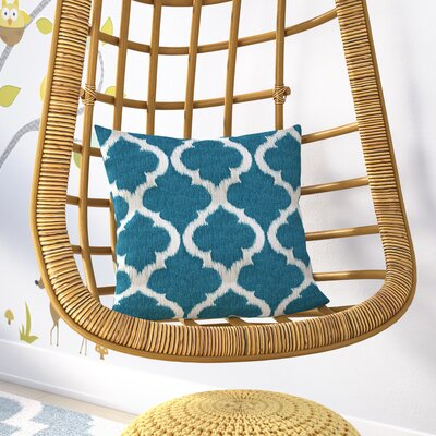 Caine Trellis Throw Pillow Color: Teal