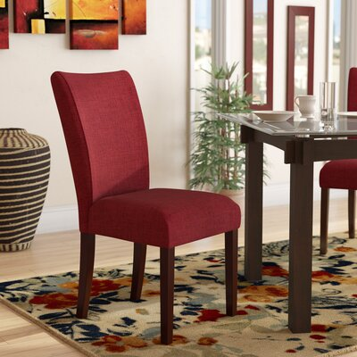 Wallington Parsons Chair Upholstery: Dark Red