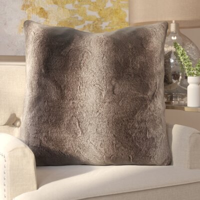 Atkins Faux Fur Euro Pillow Color: Chocolate