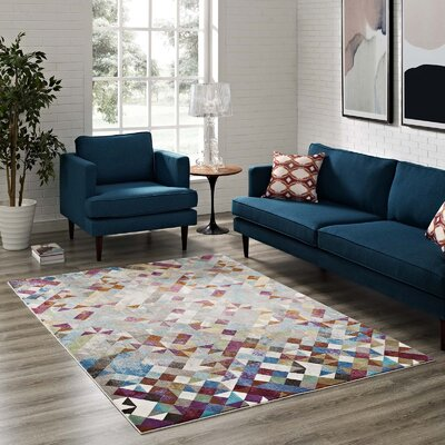 Edgerton Blue/Gray Area Rug Rug Size: Rectangle 8 x 10