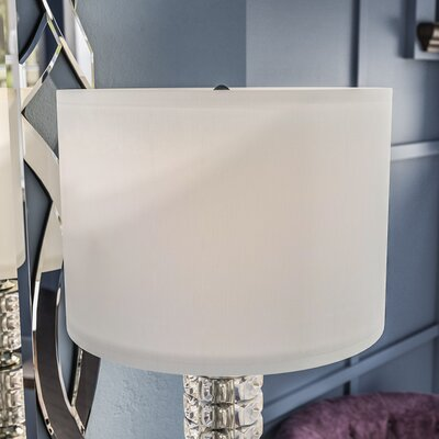Nylon Drum Lamp Shade Size: 14 W x 14 D x 10 H