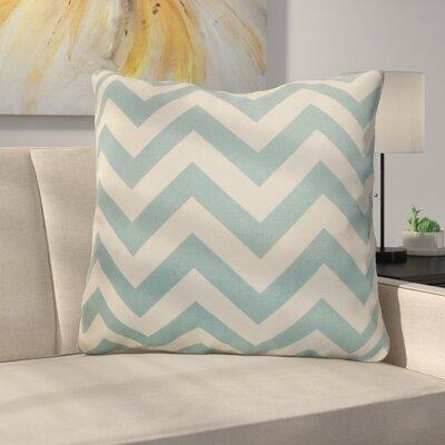 Burd Zigzag Floor Pillow Color: Blue/Natural