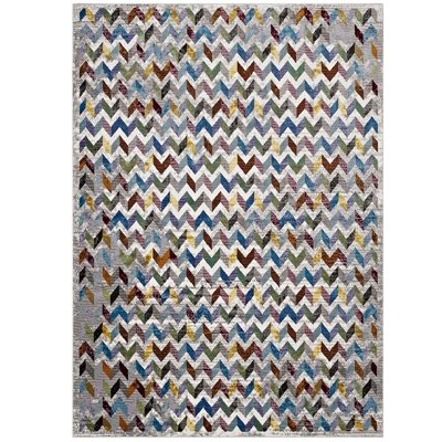 Edwina Gray/Blue Area Rug Rug Size: Rectangle 8 x 10