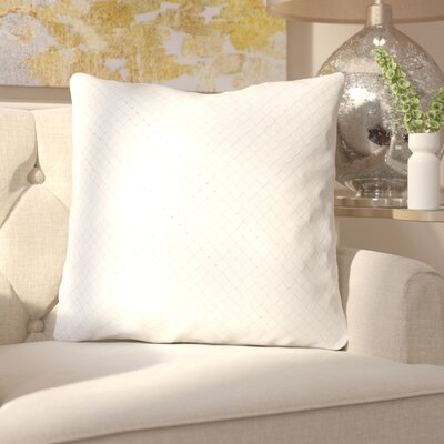 Sherlene Throw Pillow Color: White, Fill Material: Down Fill