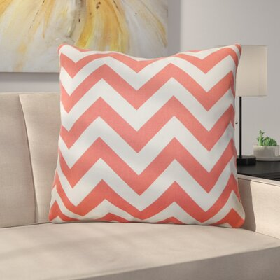 Burd Zigzag Floor Pillow Color: Coral White