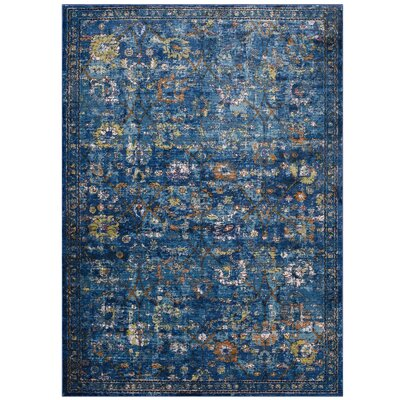 Heitzman Blue Area Rug Rug Size: Rectangle 53 x 76