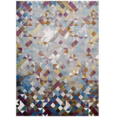Edgerton Blue/Gray Area Rug Rug Size: Rectangle 53 x 76