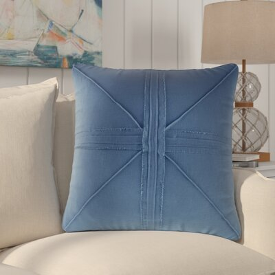 Rafaela Oversized Frayed Linen Throw Pillow Color: Navy