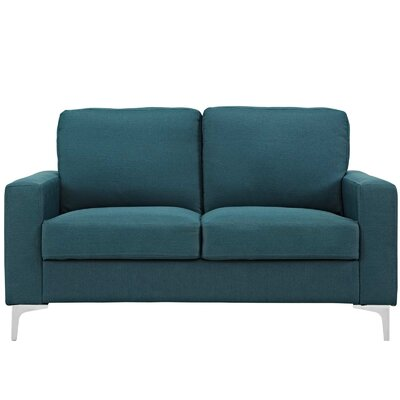 Hollander Standard Loveseat Upholstery: Blue