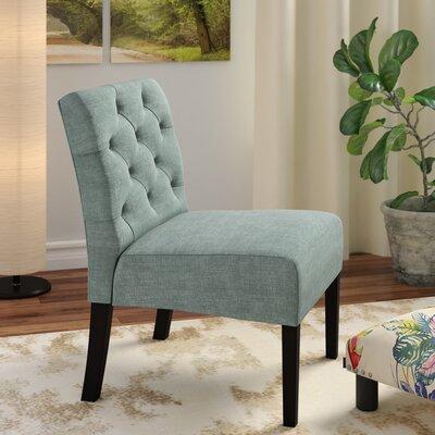 Lashbrook Slipper Chair Upholstery: Green