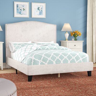 Mckissick Upholstered Panel Bed Size: Queen, Color: Cream