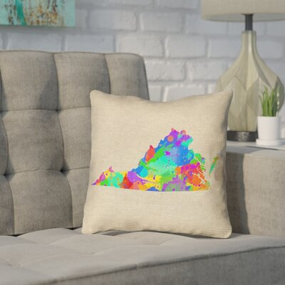 Sherilyn Virginia Throw Pillow Size: 26 x 26, Material: Spun Polyester, Color: Green/Blue