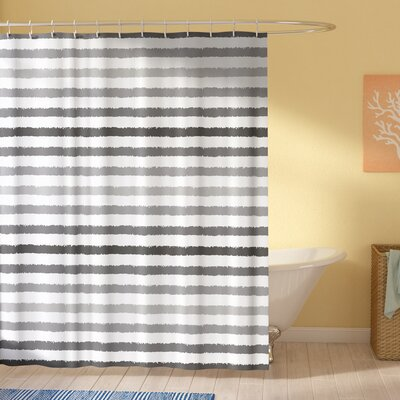 Stephane Gray and White Grunge Shower Curtain Size: 69 W x 70 L