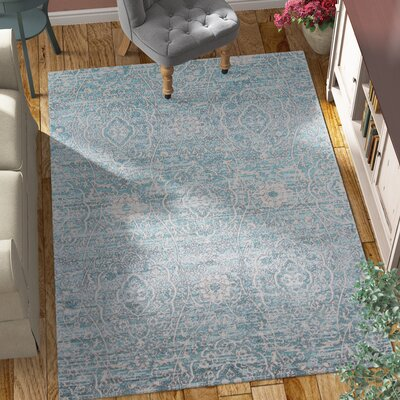 Annet Blue Area Rug Rug Size: Rectangle 53 x 76