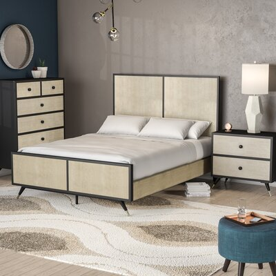 Bobby Mid Century Platform 3 Piece Bedroom Set Size: King