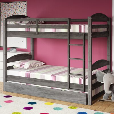 Daryl Twin over Twin Bed with Trundle Color: Rustic Gray