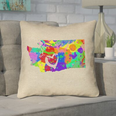Sherilyn Washington Love Size: 26 x 26, Type: Throw Pillow
