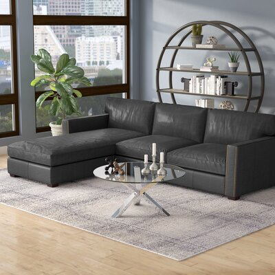 Grandfield Reversible Sectional Upholstery: Rider Black