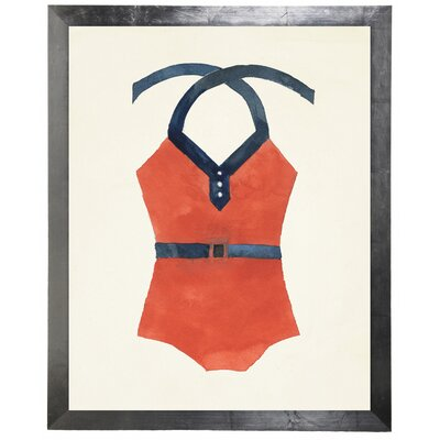 'Bathing Suit with Belt' Framed Watercolor Painting Print F24A104509CD4F81B353AFF2552F7E59
