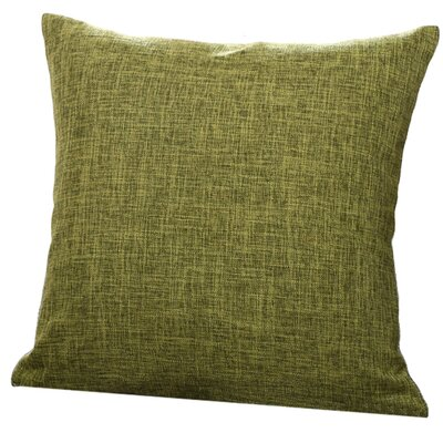 Criss Cotton Blend Pillow Cover Color: Army Green, Size: 18 x 18