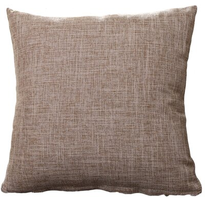 Criss Cotton Blend Pillow Cover Color: Beige, Size: 18 x 18