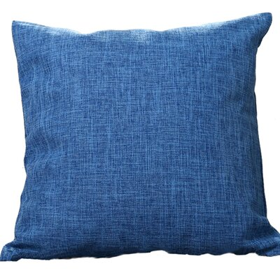 Criss Cotton Blend Pillow Cover Color: Blue, Size: 18 x 18