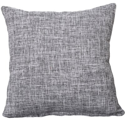 Criss Cotton Blend Pillow Cover Color: Gray, Size: 18 x 18