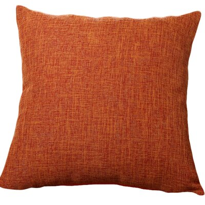 Criss Cotton Blend Pillow Cover Color: Orange, Size: 18 x 18