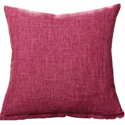Criss Cotton Blend Pillow Cover Color: Pink, Size: 18 x 18