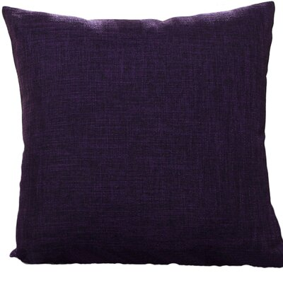 Criss Cotton Blend Pillow Cover Color: Purple, Size: 18 x 18