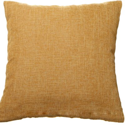 Criss Cotton Blend Pillow Cover Color: Tan, Size: 18 x 18