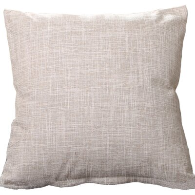Criss Cotton Blend Pillow Cover Color: White, Size: 18 x 18