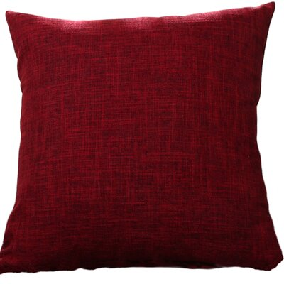 Criss Cotton Blend Pillow Cover Color: Wine Red, Size: 22 x 22