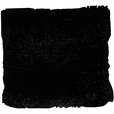 Del Rey Oaks Cotton Blend Pillow Cover Color: Black