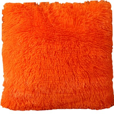 Del Rey Oaks Cotton Blend Pillow Cover Color: Orange