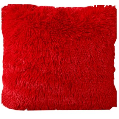 Del Rey Oaks Cotton Blend Pillow Cover Color: Red